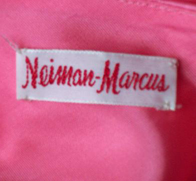 Lipstick Pink Neiman Marcus  Formal Dress Vintage 60s Audrey Gown S